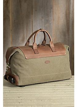 Overland Wayfarer Canvas and Leather Wheeled Duffel Bag