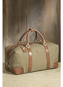 Overland Jarvis Canvas and Leather Duffel Bag