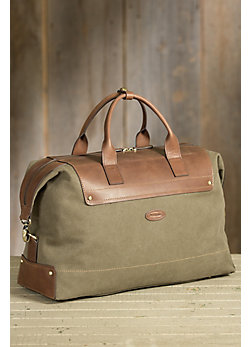 Overland Edison Canvas and Leather Travel Bag