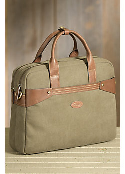 Overland Anderson Canvas and Leather Briefcase
