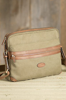 Overland Milo Canvas and Leather Messenger Bag