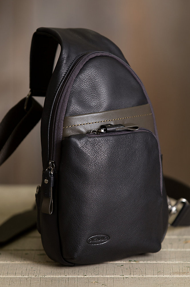 Princeton Leather Sling Backpack
