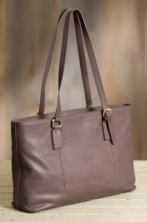 Cambria Leather Tote Shoulder Bag