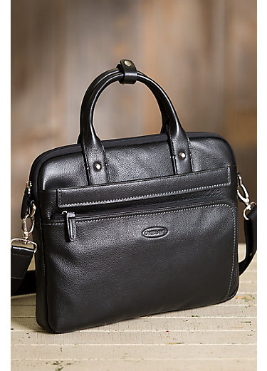 Powell Leather Laptop Attaché Briefcase
