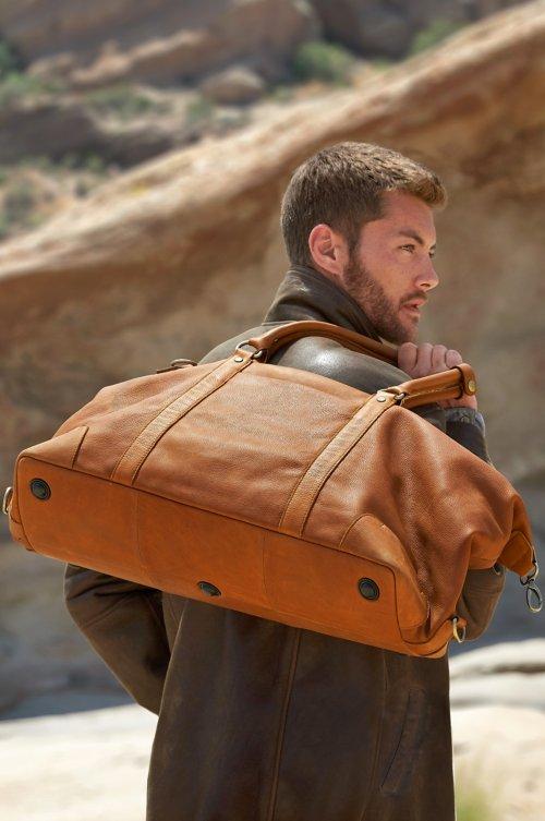 Montecito Leather Duffel Bag