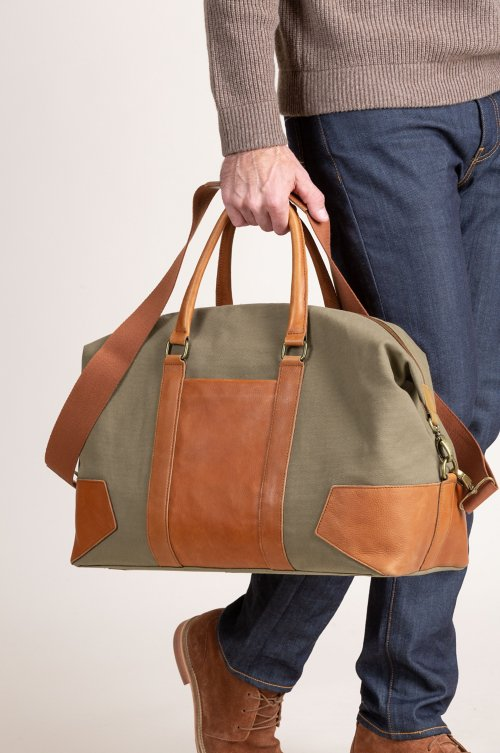 Montecito Canvas and Leather Duffel Bag