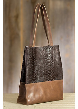 Saloso Calfskin Leather Tote Bag