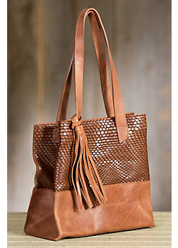 Orini Italian Leather Tote Bag