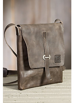 Faust Italian Leather Messenger Bag