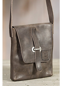 Kaja Italian Leather Messenger Handbag