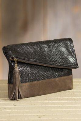 Dentali Leather Clutch Handbag