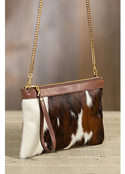 Overland Lalassa Cowhide Crossbody Clutch Handbag