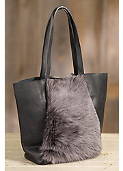 Overland Murray Sheepskin and Leather Tote Bag
