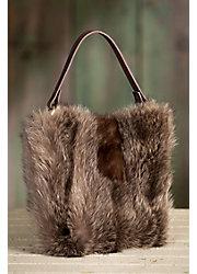 Quito Leather and Fur Shoulder Crossbody Handbag