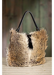 Quito Leather and Fur Shoulder Crossbody Handbag