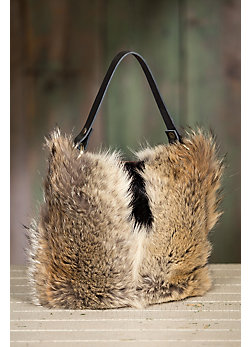 Quito Leather and Fur Crossbody Handbag
