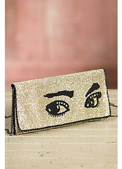 Watch Out Mary Frances Designer Clutch Handbag