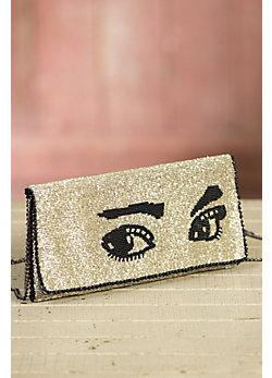 Watch Out Mary Frances Designer Clutch Handbag