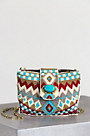 Turquoise Power Mini Mary Frances Designer Handbag