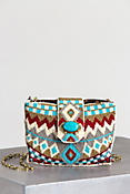 Turquoise Power Mini Mary Frances Designer Handbag