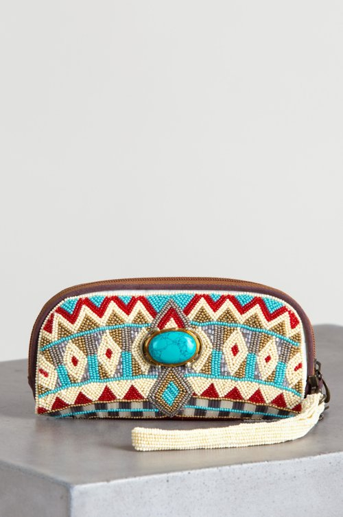 Mary Frances Turquoise Power Wristlet Wallet