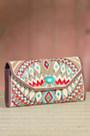 Turquoise Power Mary Frances Designer Clutch Handbag