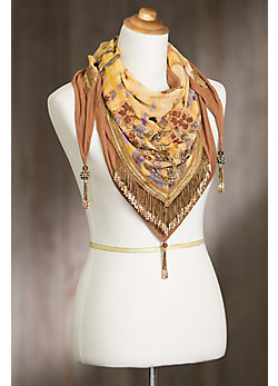 Mary Frances Desert Sunrise Lotus Scarf