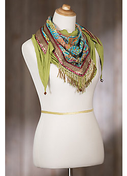 Mary Frances Grotto Lotus Scarf