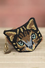Here Kitty Kitty Mary Frances Designer Keychain Coin Pouch
