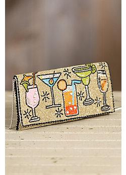 Cocktail Hour Mary Frances Designer Crossbody Clutch Handbag