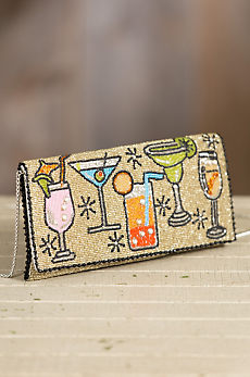 Cocktail Hour Mary Frances Designer Crossbody Clutch Handbag