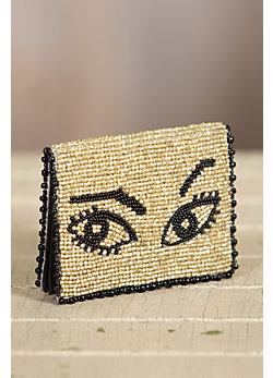 Watch Out Mary Frances Designer Card Case Wallet