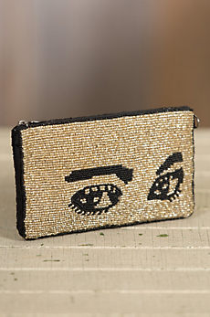 Watch Out Mary Frances Designer Eyeglasses Case Crossbody Clutch Handbag