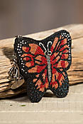 Butterfly Mary Frances Designer Keychain Coin Pouch