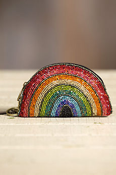 Mary Frances Over the Rainbow Designer Keychain Coin Pouch