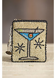 Cocktail Hour Mary Frances Designer Keychain Coin Pouch