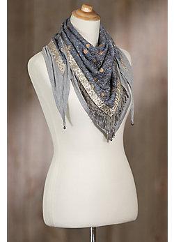 Mary Frances Designer Escapade Lotus Cotton-Blend Scarf