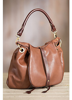 Overland Vanya Lambskin Leather Convertible Crossbody Backpack Handbag