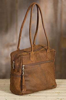 Zola Carryall African Bovine Leather Handbag