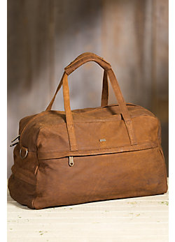 Johannesburg African Bovine Leather Duffel Bag