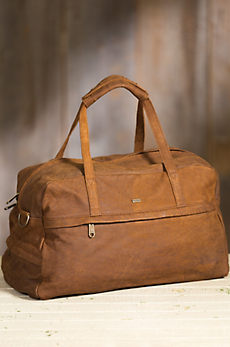 Johannesburg African Bovine Leather Duffel Bag