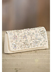 Sweet Heart Mary Frances Designer Crossbody Clutch Handbag