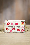 Sealed with a Kiss Mary Frances Designer Clutch Handbag