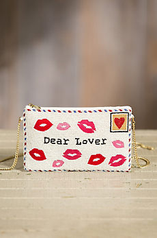 Sealed with a Kiss Mary Frances Designer Clutch Handbag