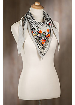 Mary Frances Giardino Lotus Scarf