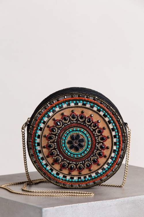 Sahara Sunset Beaded Canteen Shoulder Bag