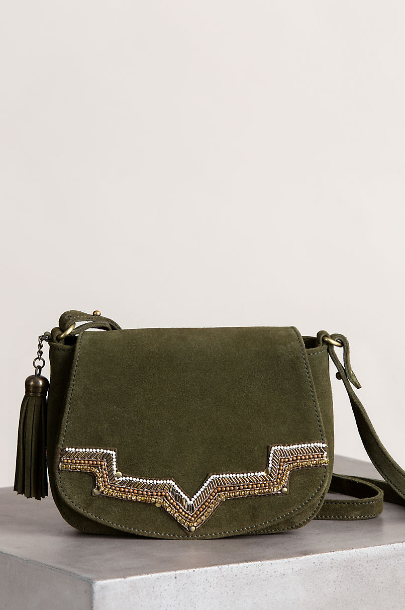 Sahara Sunset Suede Crossbody Bag