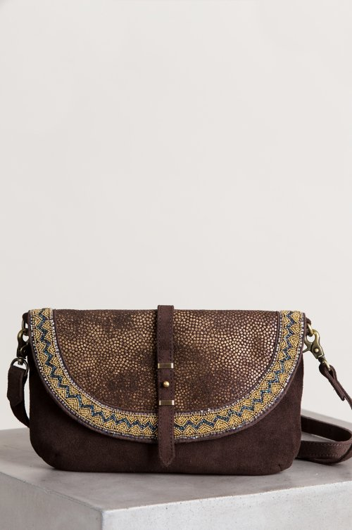 Sahara Sunset Suede Crossbody Clutch