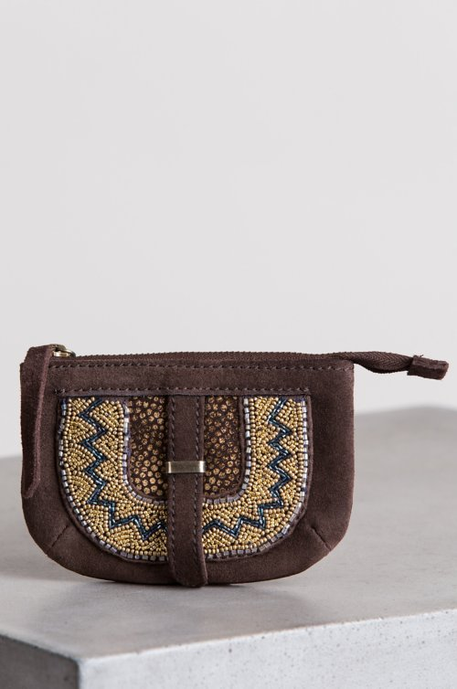 Sahara Sunset Suede Coin Pouch Wallet