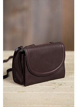 Urbanizer Multi-Pocket Leather Crossbody Handbag Wallet